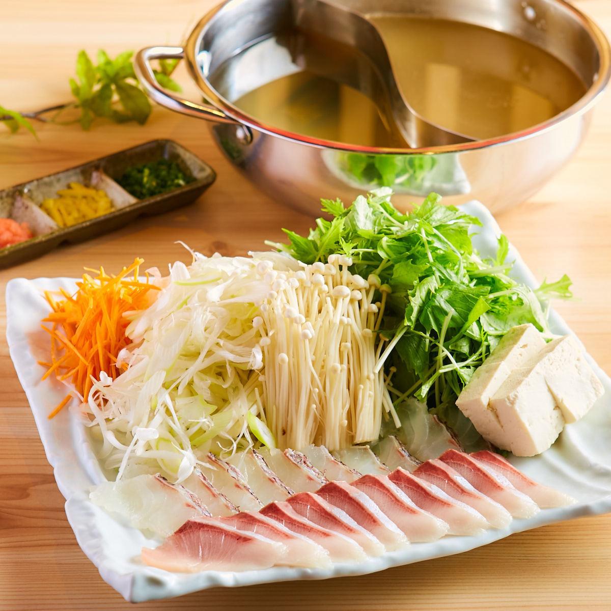 涮涮鍋配海鯛和番茄
