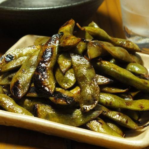 焼き枝豆(焦がしバター醤油)