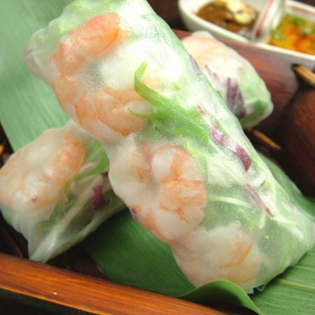 "【Seats only available for pre-orders】 From reservation here ""The most popular raw spring roll"" gift ♪"