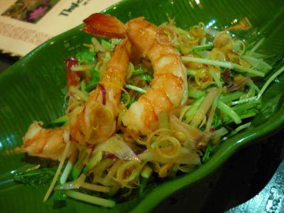 虾和柠檬草沙拉