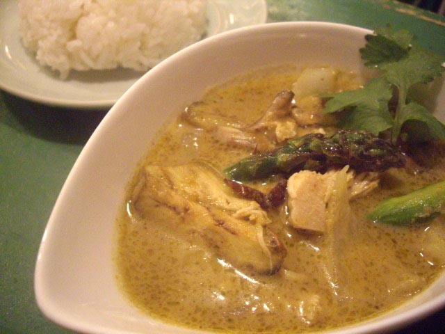 Chicken's green curry