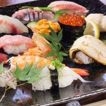 ~Okakakase寿司套餐 - 所有3000日元的13种类型
