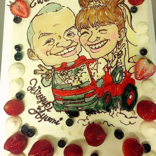【結婚式2次会に】ウェディングケーキ