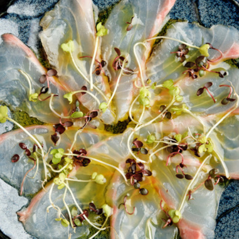 Aged fish carpaccio
