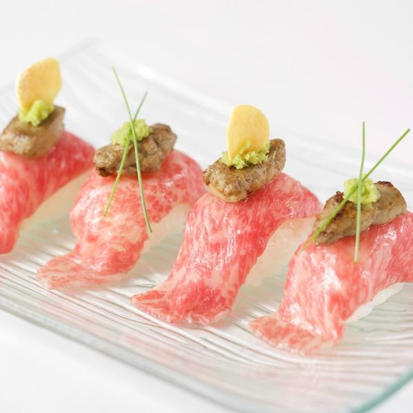 Served with Gyu grip foie gras