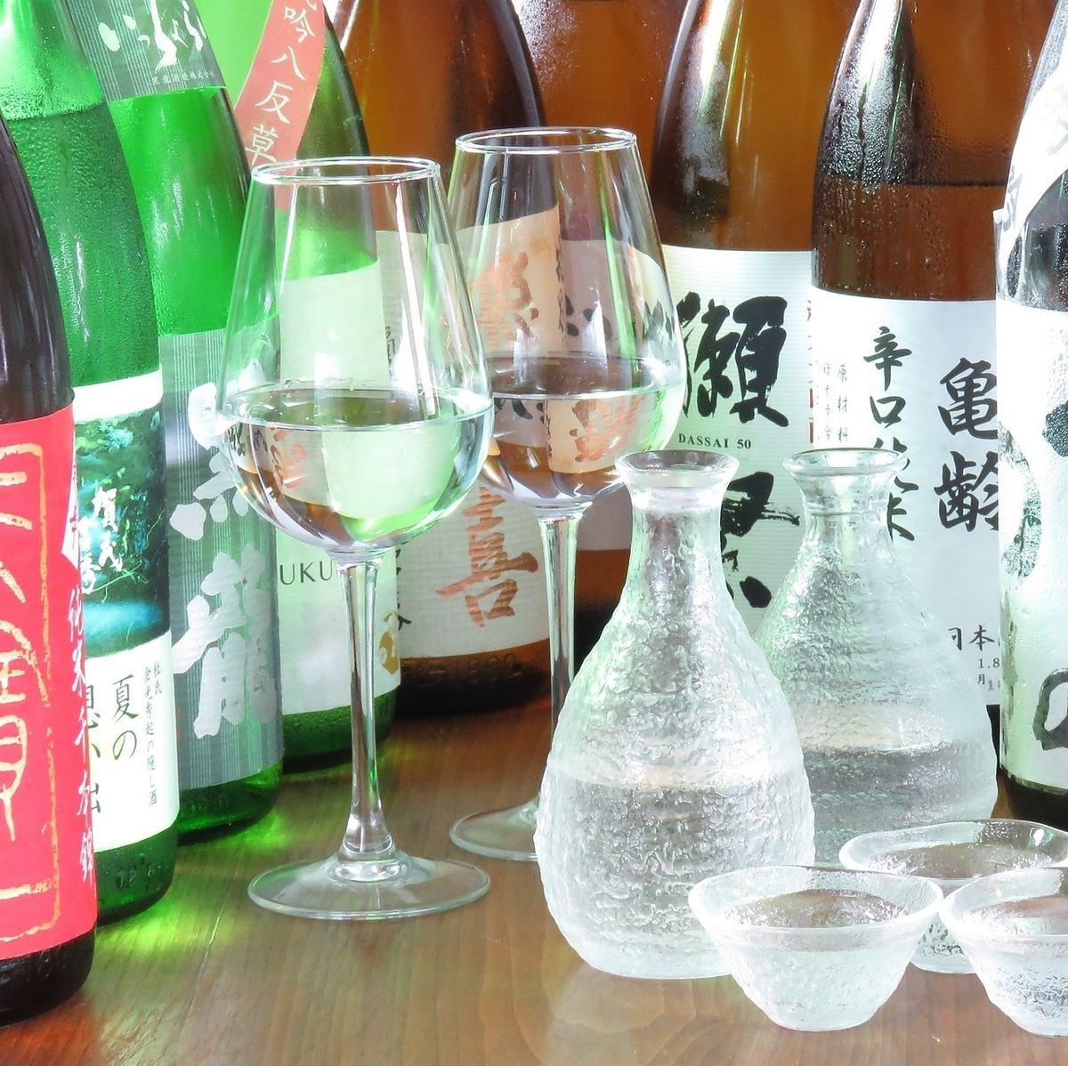 地酒を多く取り揃え、コースは全て飲み放題になります。