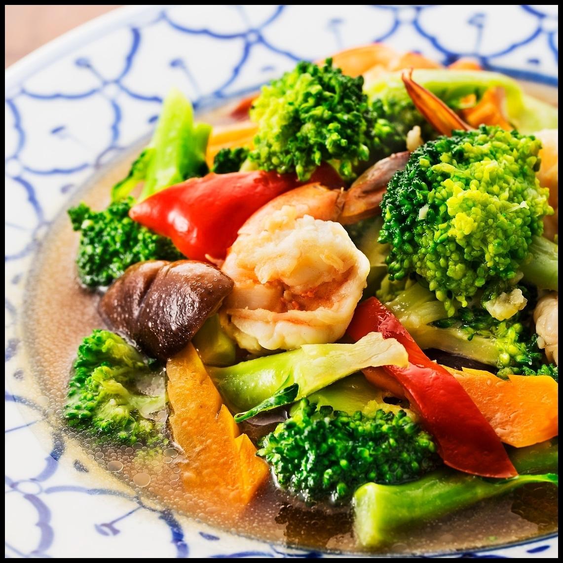 クンパッブロッコリー(海老とブロッコリーの炒め物)