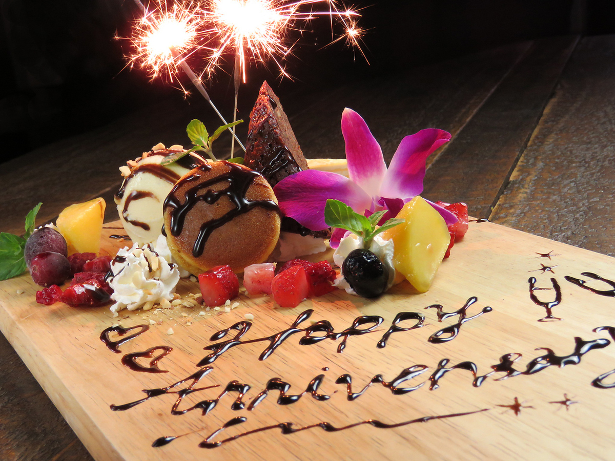 【Which one are you !?】 Dessert plate on birthday anniversary