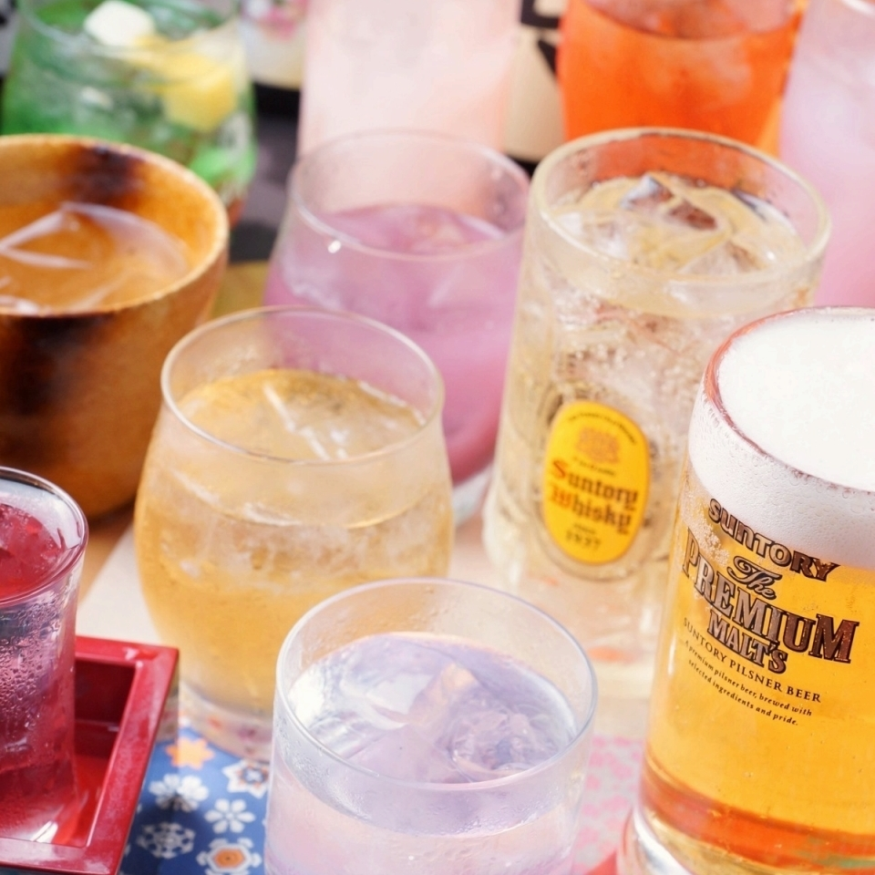 + 500 yen premium all-you-can-drink