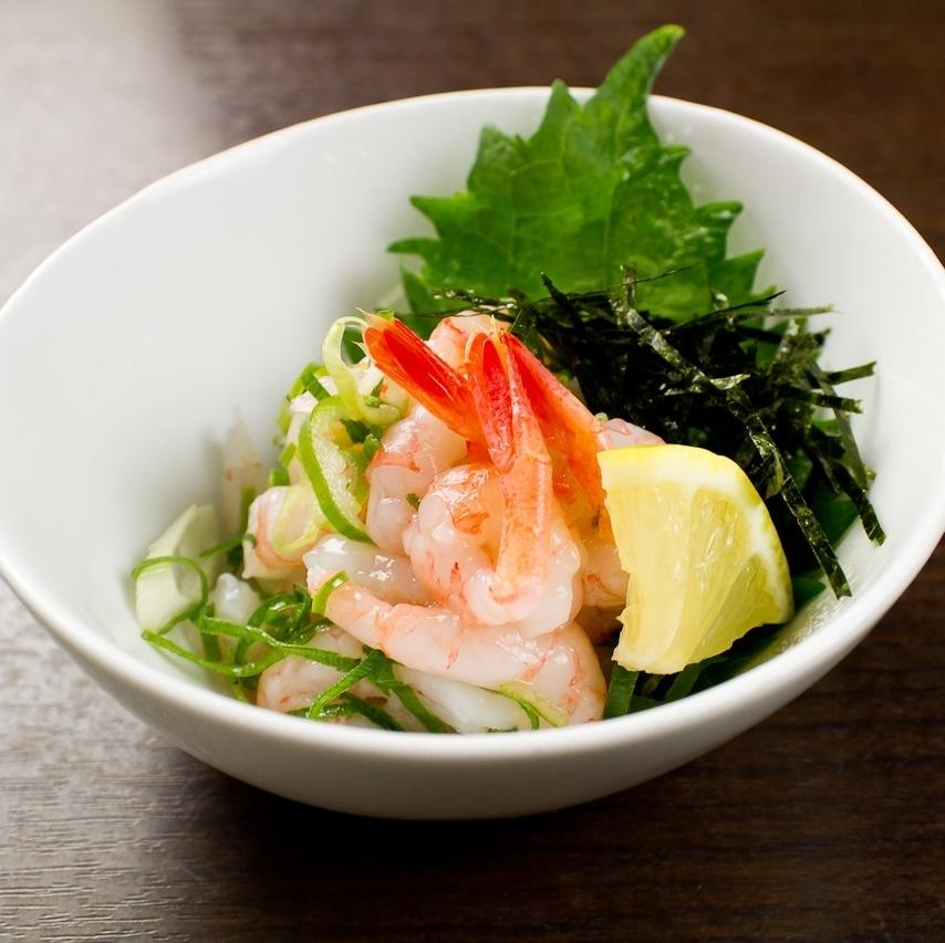 盐渍虾盐Yukke /海鲜Yukke