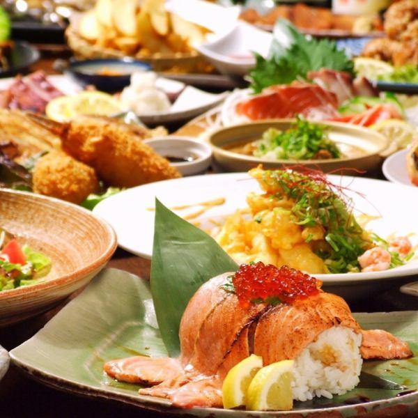 【所有时间无限畅饮饮料】3980日元(不含税)+ 500日元高级菜单是好的♪