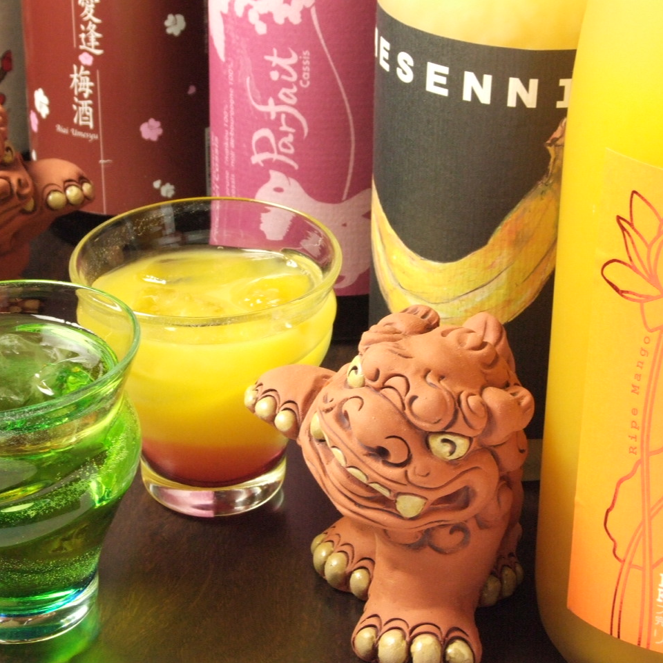 【Popular with women】 100 kinds of plum wine and fruit wine ♪