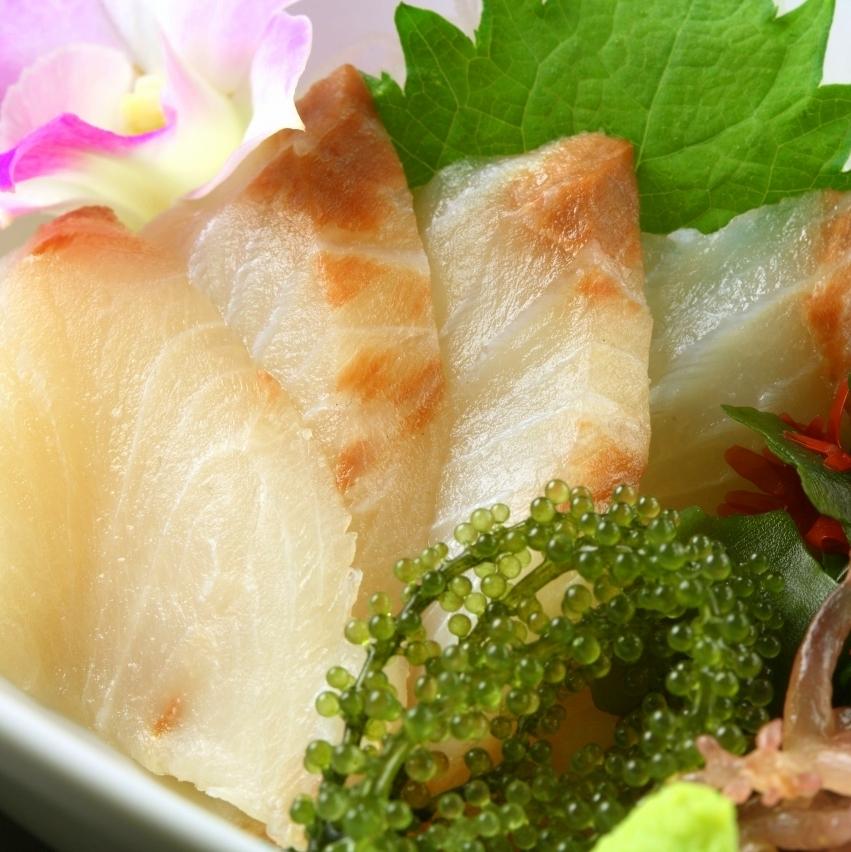One piece of sashimi in season