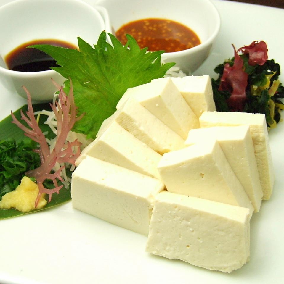 Okinawa-made island tofu sashimi