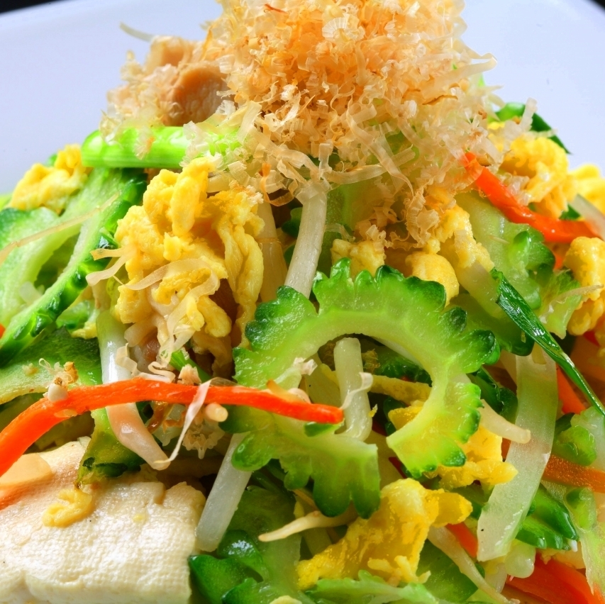 Set meal of goya champuru
