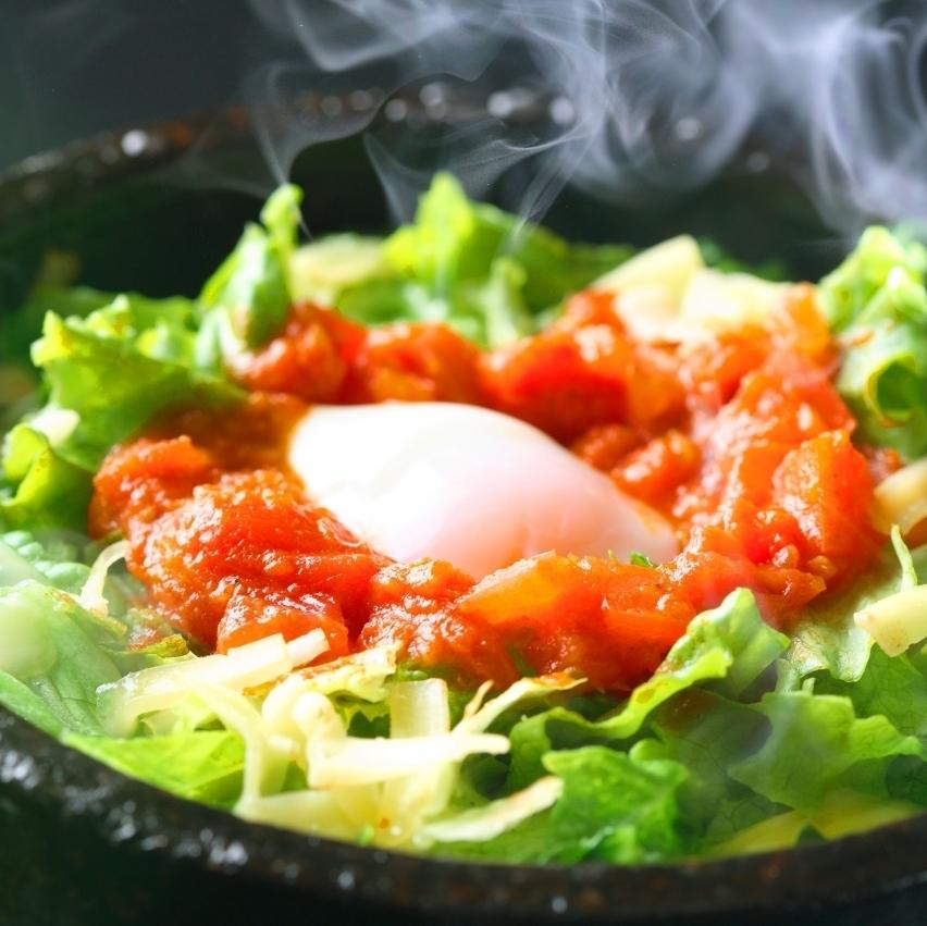 Stone-baked taco rice set