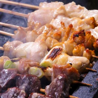 Today's skewers - Baked fresh material gently and condense the umami ~
