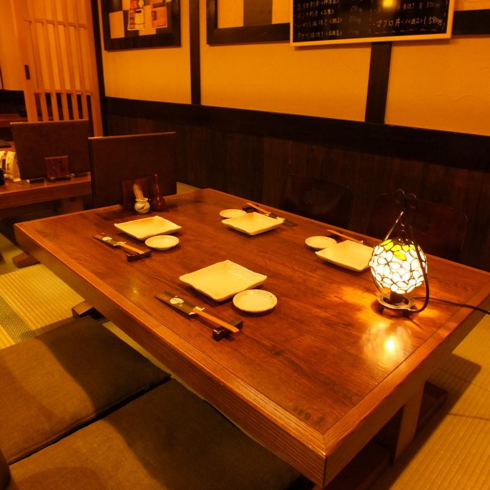 ●【 ~少人数宴会に・お座敷席・4名様まで~ 】● 友人と楽しく語れる4名席♪少人数での飲み会にぜひ!