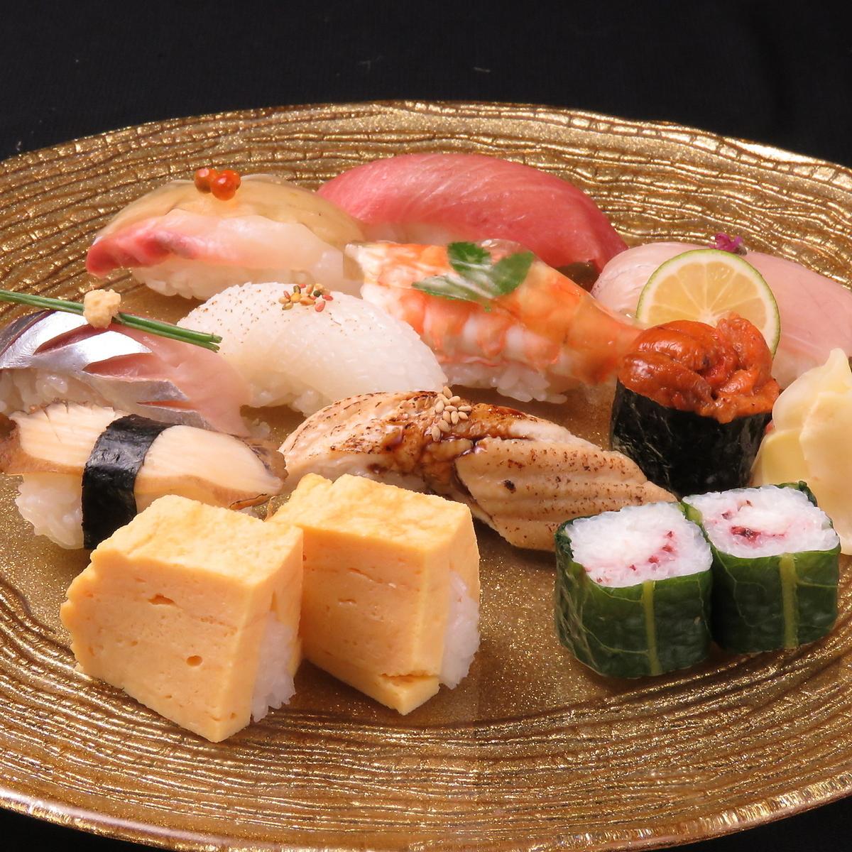 Gourmet sushi on the Matsuki-tei