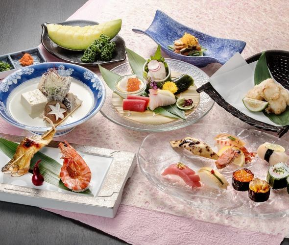 """【Entertainment Course】 Recommended chef Choose summer """"Hydrangea"""" 5,500 yen (only for dishes)"""