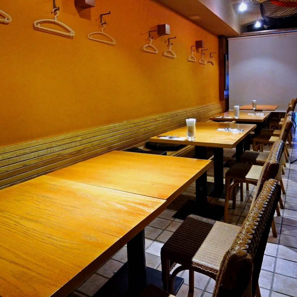 It is also possible to use the table seats by partitioning.