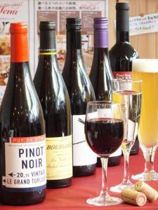 当店は様々なワインが種類豊富にございます!