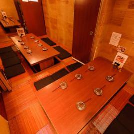 【23~26名様】各個室の仕切りを外して大きな完全個室に!宴会利用にどうぞ♪