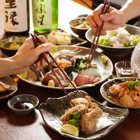 【お料理のみ】3月スタート!名物『刺身盛』やコース限定いかシウマイ含む一番人気コース