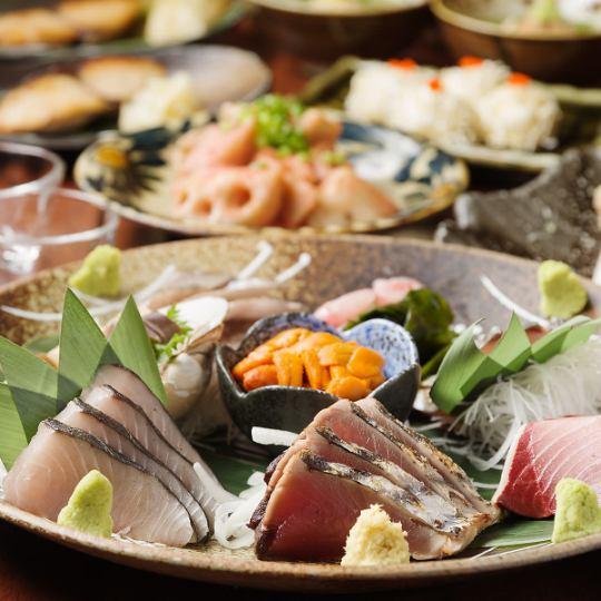 【お料理のみ】3月スタート!鮮度抜群な刺身盛や季節の炊き込みご飯♪リーズナブルなコース