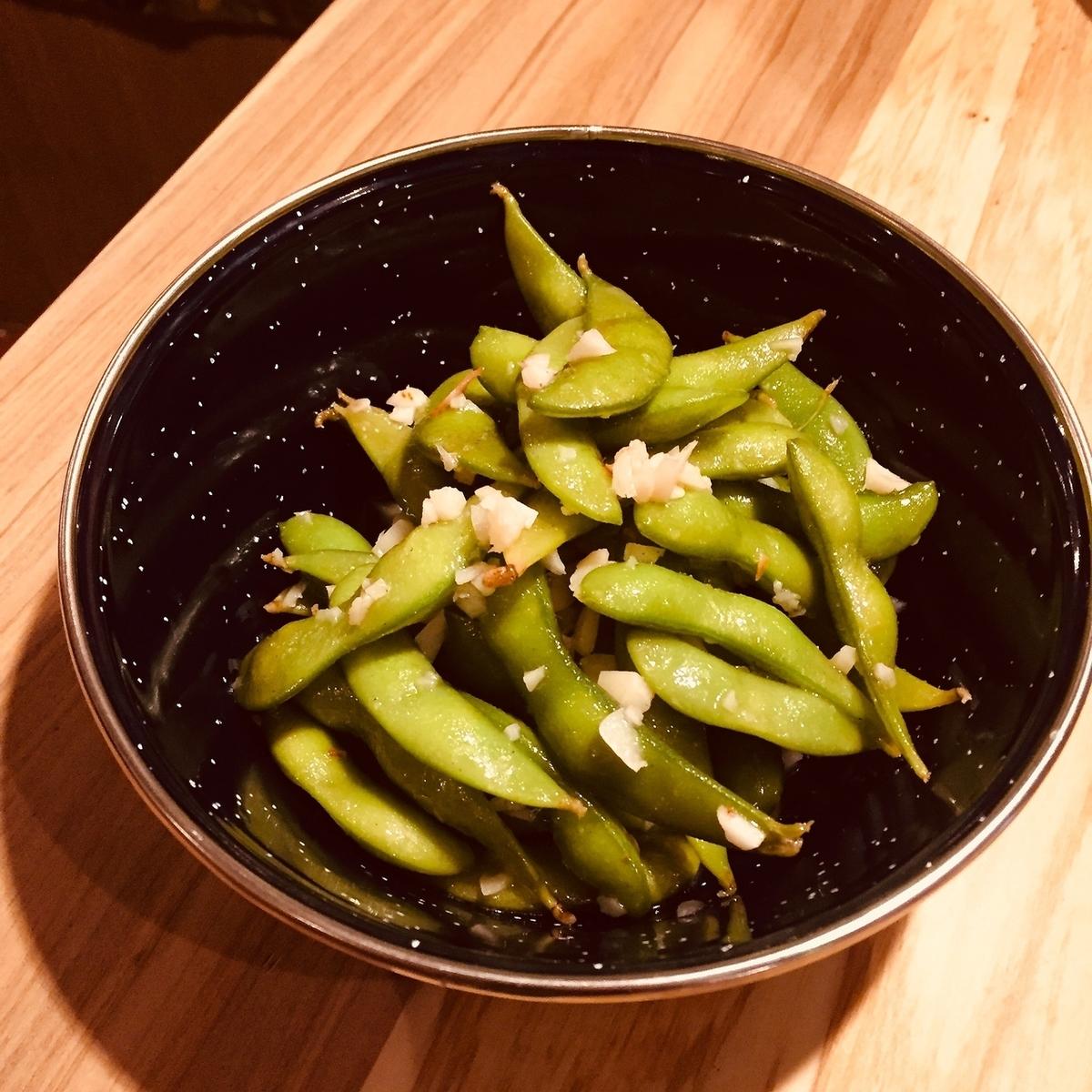 ガーリック枝豆  ~ホイル蒸し~