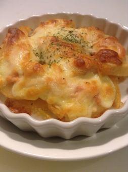 감자와 명란젓의 치즈 구이
