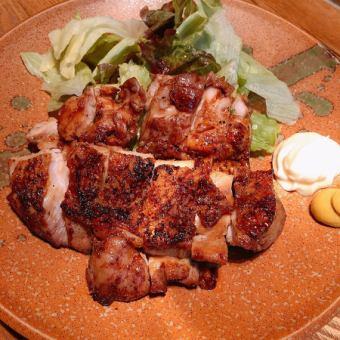 鶏肉のにんにく醤油焼き