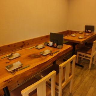 広いテーブルでゆったり座れます!宴会にも最適なお席です!