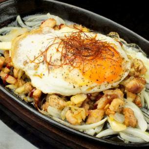 기리시마 돼지 생강 · 마늘 매운 마요네즈 볶음