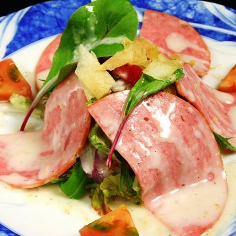 ソフトサラミのシーザーサラダ/トマト&モッツァレラ