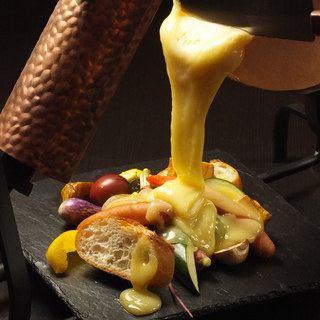 [밥을 ~ 다 치즈 요리] 치즈 리조또 & 라크 렛트 & 퐁듀 등 치즈 만끽 5 접시 4500 엔