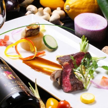 1 with drink! Main can choose what you like! 6 items using seasonal ingredients such as appetizer, pasta, dessert etc.