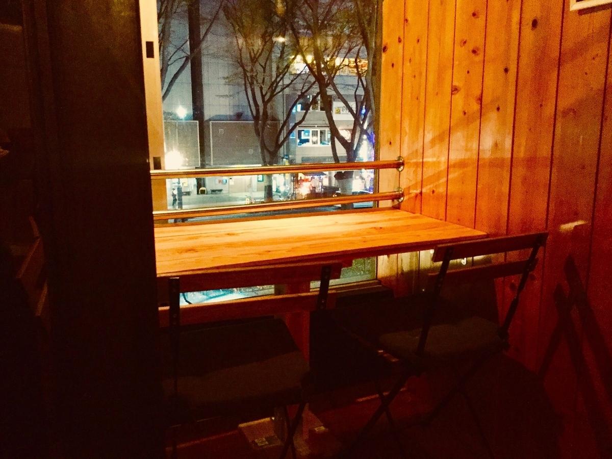 配对俯瞰Jozenji-dori的床单。你可以一边看风景一边慢慢喝。