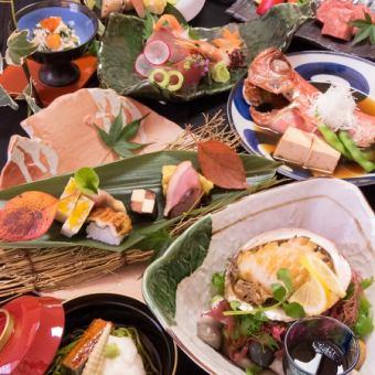 【個室確約】お料理のみ6500円和牛ステーキ/鮑ステーキ/金目鯛の煮つけ等[10品]