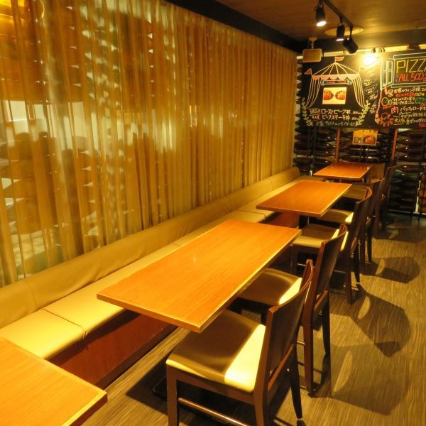 【Space recommended for girls' association such as lighting atmosphere etc】 ◎ Spacious 4 persons table line up, flexible according to the number ♪ It is possible to respond flexibly according to the number ♪ one side is slowly at the sofa seat ★ lighting is reasonable, fashionable full of fun Space is very popular among girls' societies ★ You can use any scene without choosing ★ Also, we are preparing banquet courses 【3500 yen ~】! Use by all means ★