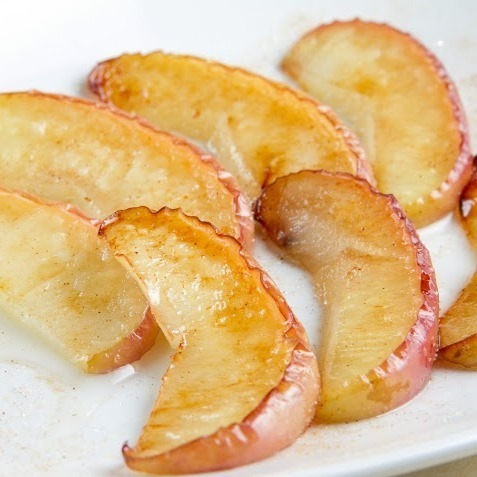 Grilled apple coconut oil