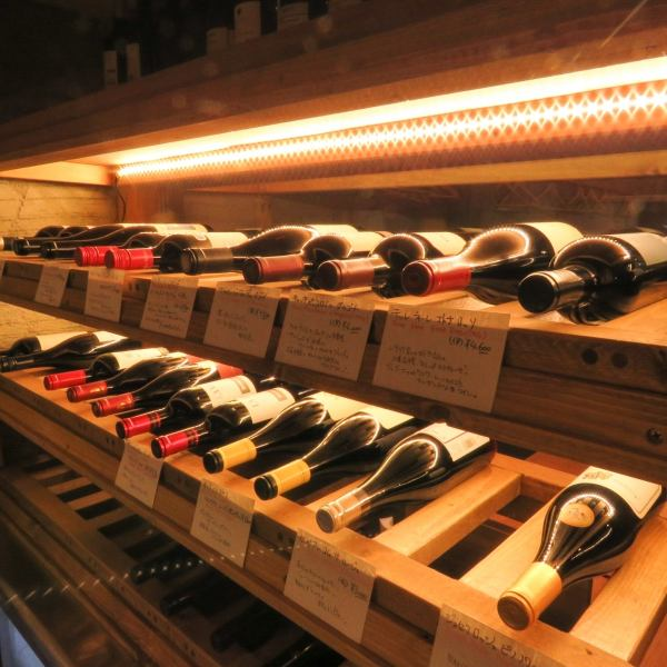 【Wine cellar complete】 We have more than 100 kinds of wine at all times.Since sommelier is also stationed, please inquire what kind of wine will fit the tapas.