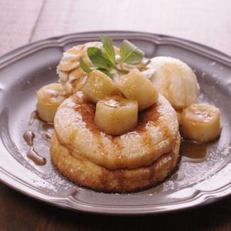 バナナのスフレパンケーキ