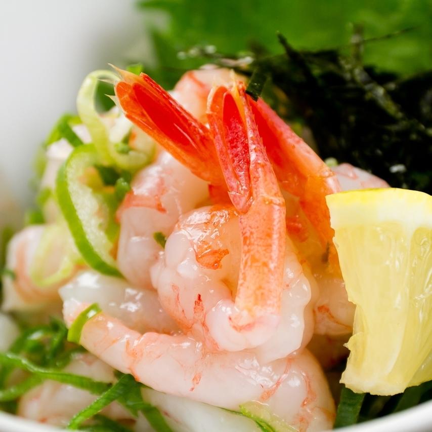 Sweet shrimp salt Yukke