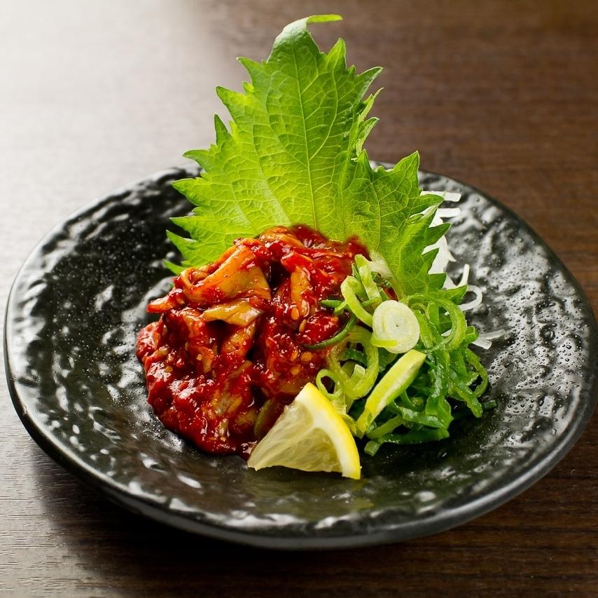Chunja / steamed chicken to eat lunch oil / pickles platter