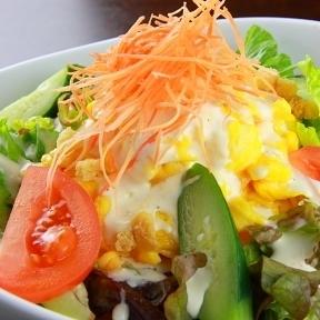 Crispy bacon Caesar salad