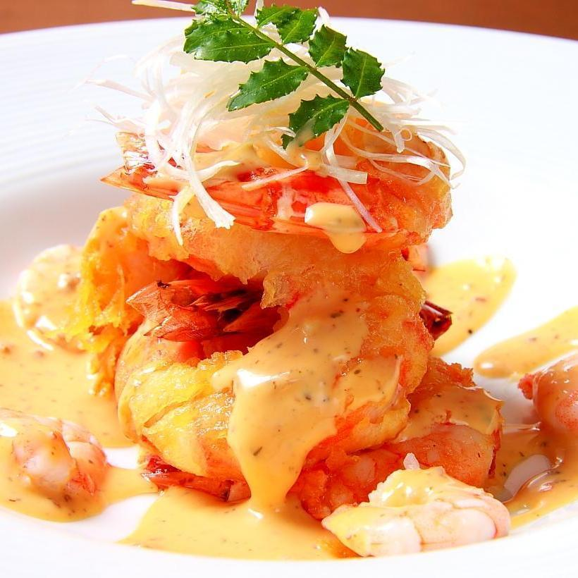 Special shrimp mayonnaise sauce