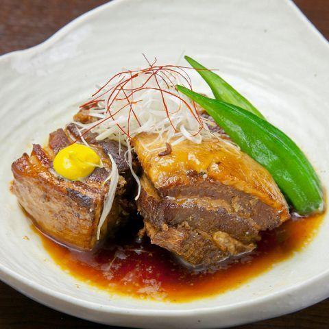 Simmered simmered pork belly