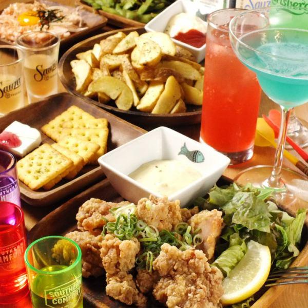 5品コース+飲み放題2時間(90分L.O)付 2000円