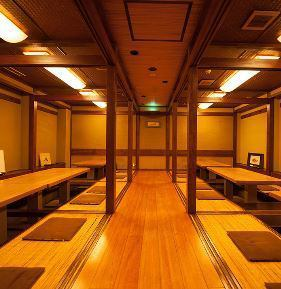 We have prepared a private room that can hold up to 24 people and a private room that can accommodate up to 36 people.